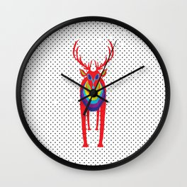 Animal Mardi Gras: Stag Wall Clock