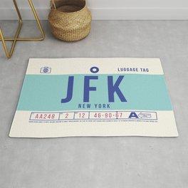 Baggage Tag B - JFK New York John F. Kennedy USA Rug