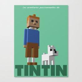 Tintin voxel tribute Canvas Print