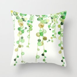 Behind the Vines Throw Pillow