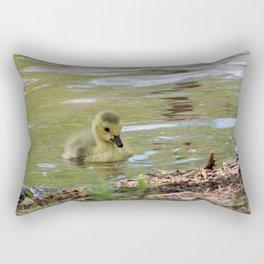 Gosling Swimming Rectangular Pillow