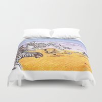 camouflage Duvet Covers featuring camouflage by Rose Rigden