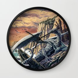 The Leggend of the Silver Dragon Wall Clock