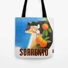 Vintage Sorrento Italy Travel Ad Tote Bag