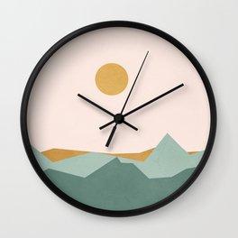 Minimal Line Scape I Wall Clock