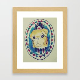 pug Framed Art Print