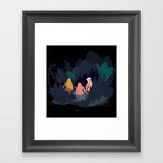 Night Pond Framed Art Print
