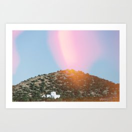 Religious Hill Art Print