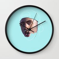 tyler the creator Wall Clocks featuring Tyler, The Creator, Incomplete by mrspotatohead