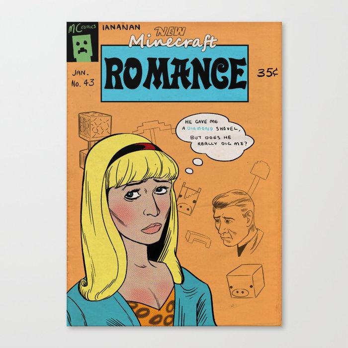 Minecraft Romance Issue #43 Canvas Print