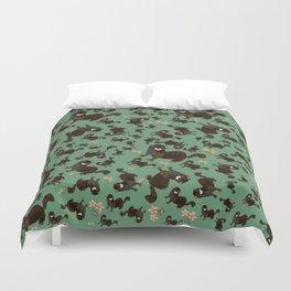 Shy european mink pattern Duvet Cover