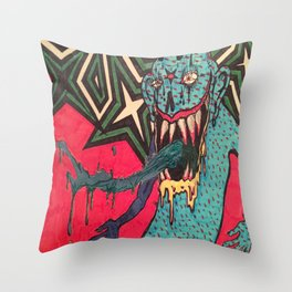DEMON GOD 'FREAK ANY HO' Throw Pillow