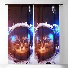 Funny Cat Astronaut #1 Blackout Curtain