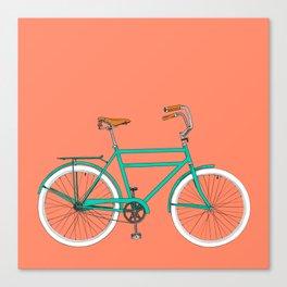 Brooklyn Cruiser - Bike print illustration Canvas Print