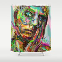 archan nair Shower Curtains featuring Drift by Archan Nair