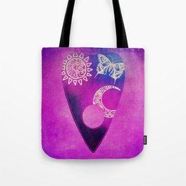 Purple Pretty Ouija Planchette, Occult Art, Ouija Art Tote Bag