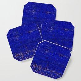 -A5- Royal Calm Blue Bohemian Moroccan Artwork. Coaster