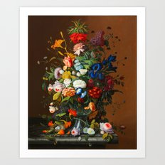 Mixed Flowers VI Art Print