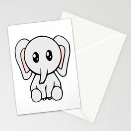 Cute Elephant Stationery Cards