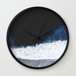 Ocean III (drone photography) Wall Clock