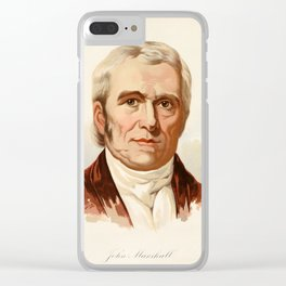 Our Country 1891 - John Marshall, Fourth Chief Justice of US Clear iPhone Case