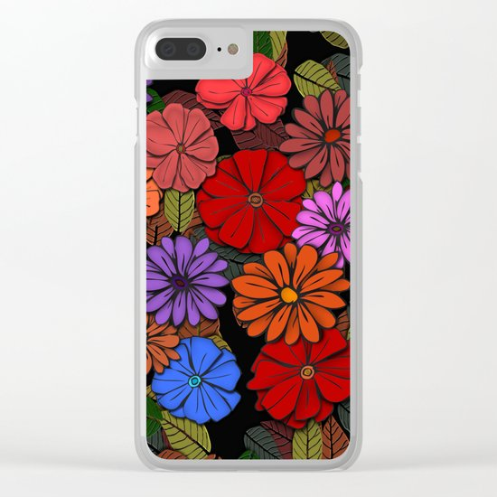 Abstract #393 Flower Power #4 Clear iPhone Case