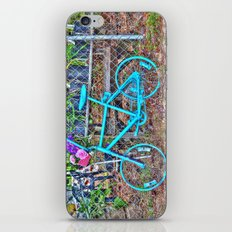 Turquoise Bicycle iPhone Skin