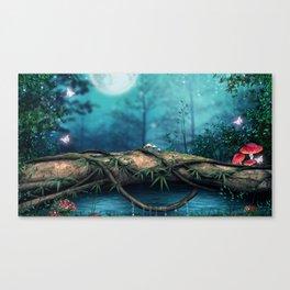 Mystic Beautiful Fairytale Twilight Timberland Butterfly Spirits UHD Canvas Print