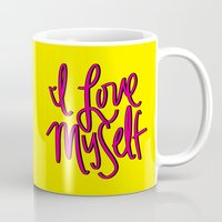 kendrick lamar Mugs featuring Love Myself by Chelsea Herrick