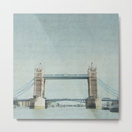 Letters From the Tower Bridge - London Metal Print