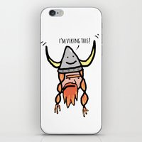 viking iPhone & iPod Skins featuring Viking by Andrea Orlic