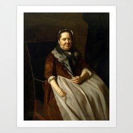 John Singleton Copley - Portrait of Mrs Paul Richard (Elizabeth Garland, 1700–1774) Art Print