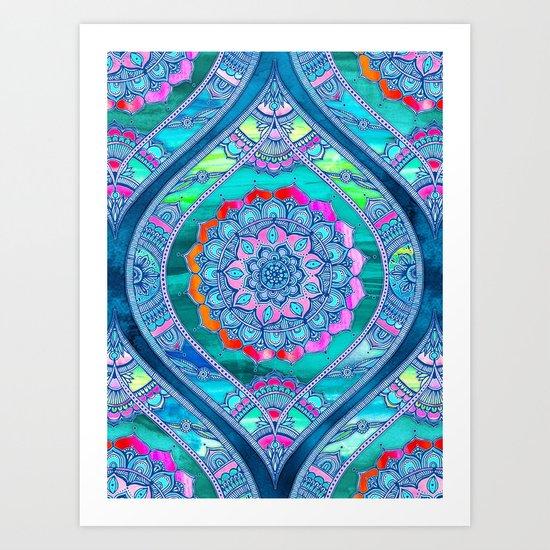 Radiant Boho Color Play Art Print