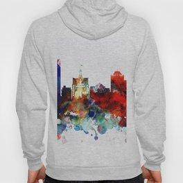 Colorful Milwaukee watercolor skyline Hoody