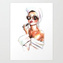 Fashion Lady Art Print