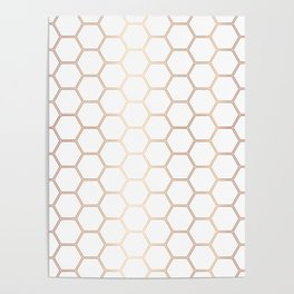 Honeycomb - Rose Gold #372 Poster