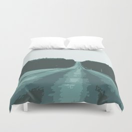 Abstract empty road Duvet Cover