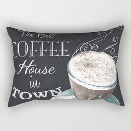Retro Chalkboard Coffee 2 Rectangular Pillow