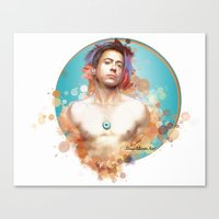 robert downey jr Canvas Prints featuring Robert Downey Jr. by Rene Alberto