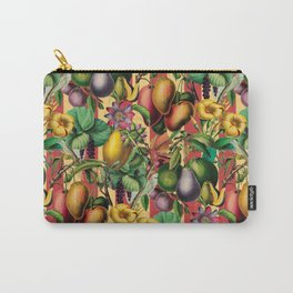Elegant Retro Fruit and Flower Garden Carry-All Pouch