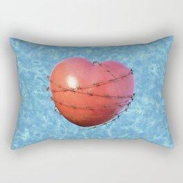 Barb Wire Heart - Coeur Barbelé Rectangular Pillow