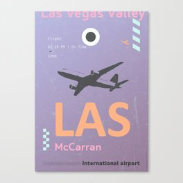 LAS Vegas airport tag Canvas Print
