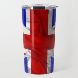 Wrinkled Union Jack Flag Travel Mug