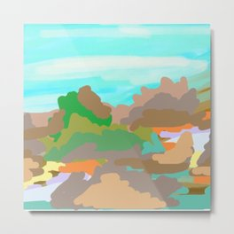Heroes Climb Mountains Metal Print