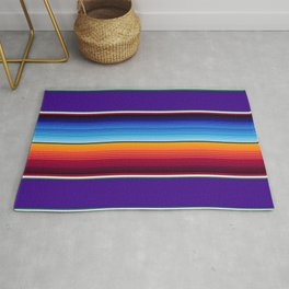 Traditional Mexican Serape in Purple Rug