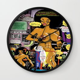 Space Chick & Nympho: Vampire Warrior Party Girl Comix #1 - Comic Book Page Wall Clock