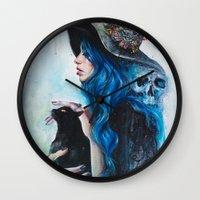 valentine Wall Clocks featuring Blue Valentine by Tanya Shatseva