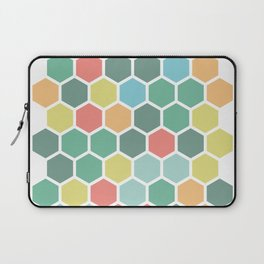 Texture hexagons - Spring's colors Laptop Sleeve