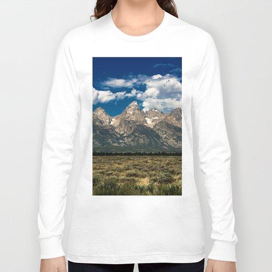 The Grand Tetons - Summer Mountains Long Sleeve T-shirt