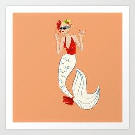 Art Print Poster Gift - Overboard Goldie Hawn Mermaid Art Print